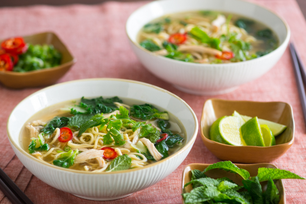 Vietnamese-Style Chicken Noodle Soup Recipe