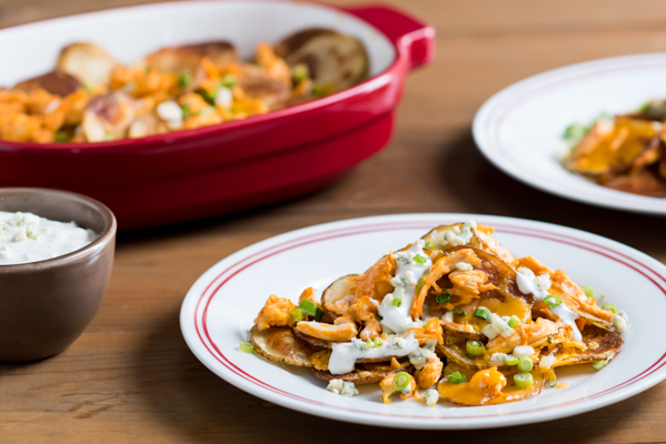 Potato Chip Buffalo Chicken Nachos Recipe