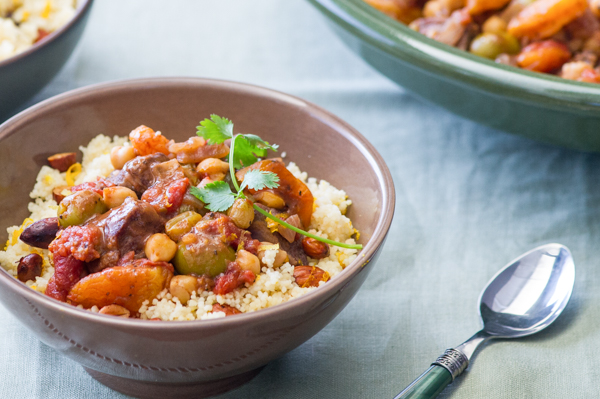 Lamb Tagine with Apricots, Raisins and Olives Recipe