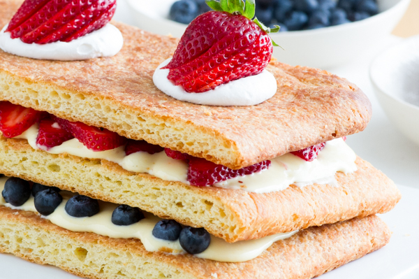 Napoleon with Fresh Berries Recipe