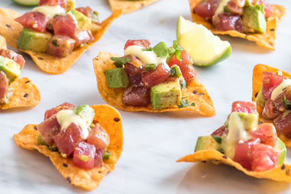 Tex-Mex Spiced Tuna Tartare with Jalapeño Aioli Recipe