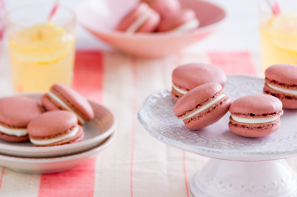 Pink Velvet Grasshopper Macarons and 1,000 Cooks for the Cure