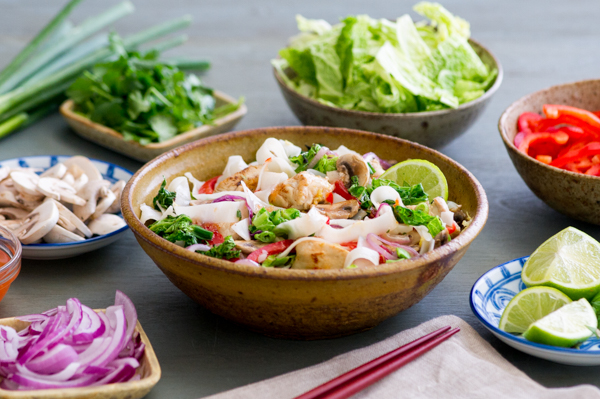 Thai Chicken and Cabbage Noodles Recipe