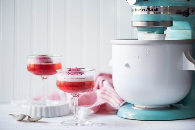 Cranberry Champagne Floats Recipe
