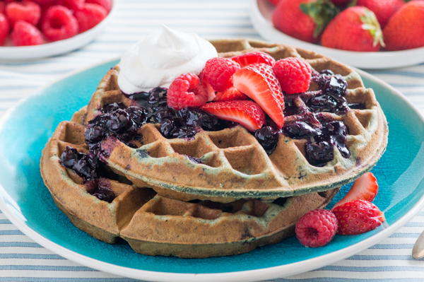 Wild Berry Belgian Waffles Recipe