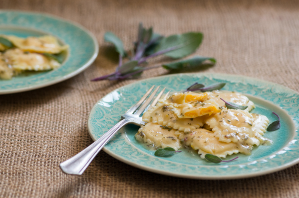 Fresh Butternut Squash Ravioli in Sage Broth Recipe