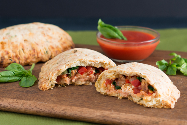 Savory Veggie and Cheese Scone Calzones Recipe