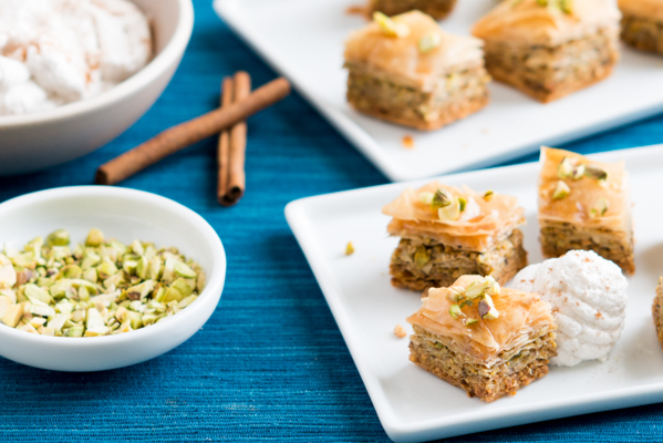 Mini Pistachio, Walnut & Honey Baklava Recipe