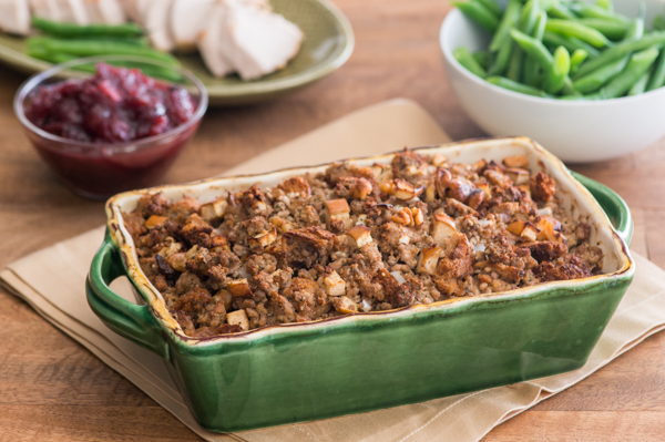 Sage Pesto Sausage Stuffing Recipe
