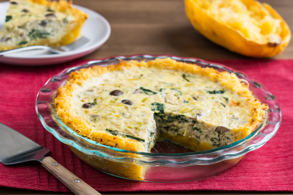 Quiche with Spaghetti Squash Crust Recipe