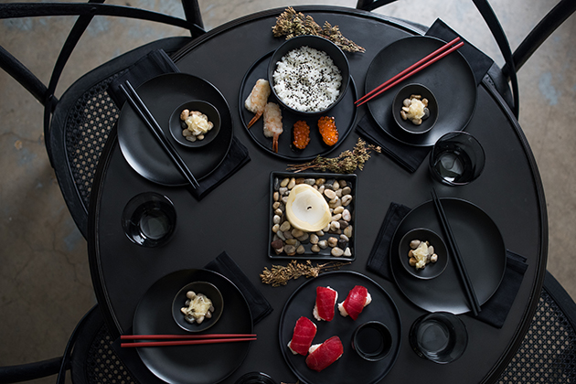 Zen Asian-Inspired Table Setting