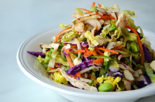 Chopped Chinese Chicken Salad with Sesame Vinaigrette Recipe