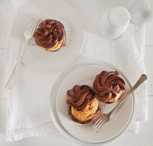 Pumpkin Chocolate Cream Puffs Recipe