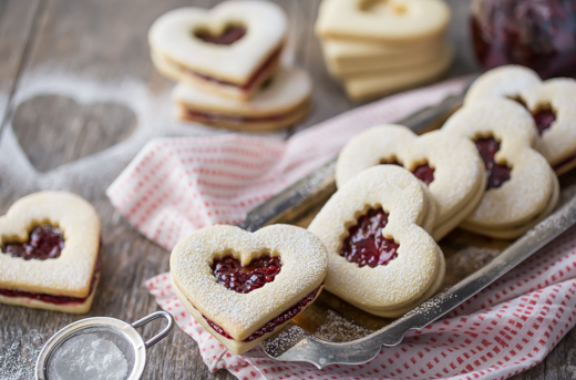 Raspberry Linzer Hearts