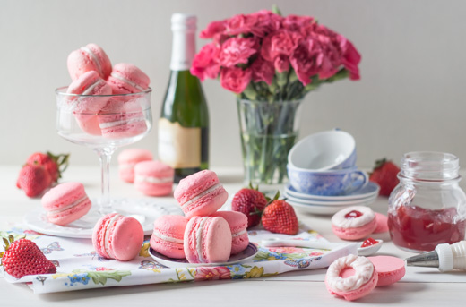 Strawberry Rose Macarons Recipe