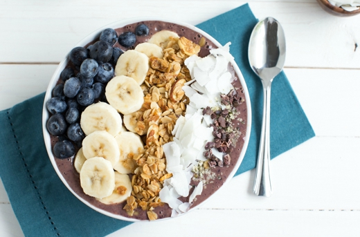 Blueberry Crunch Acai Bowl