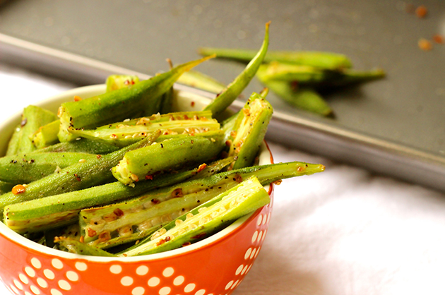Seasonal Nutrition: Chili Roasted Okra