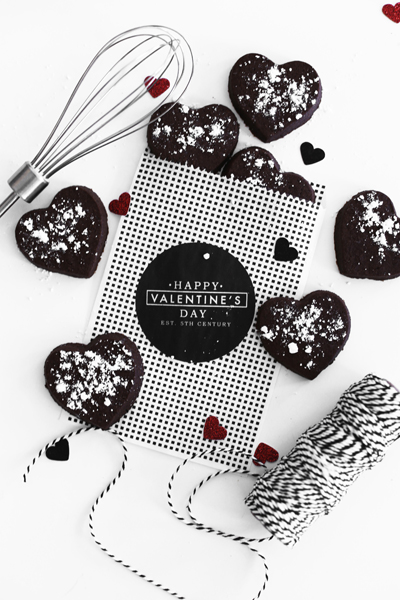 Chocolate Sugar Cookie Valentine's Day Favors