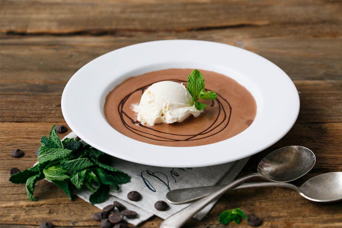 Mint Chocolate Dessert Soup
