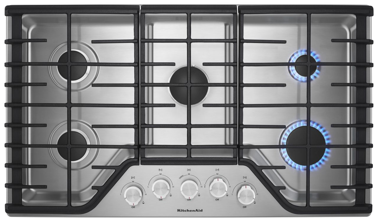 KitchenAid® 36'' 5-Burner Gas Cooktop