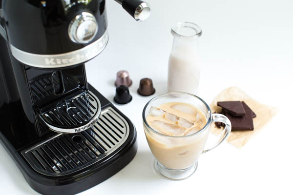 Dark Chocolate Coconut Iced Coffee