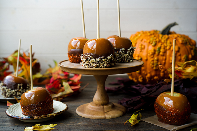 Double Dipped Chocolate Caramel Apples