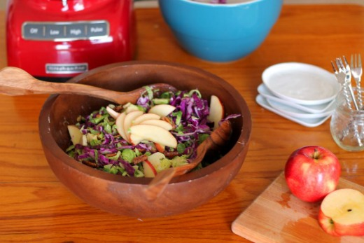 Brussels Slaw Salad with Maple Tahini Dressing Recipe