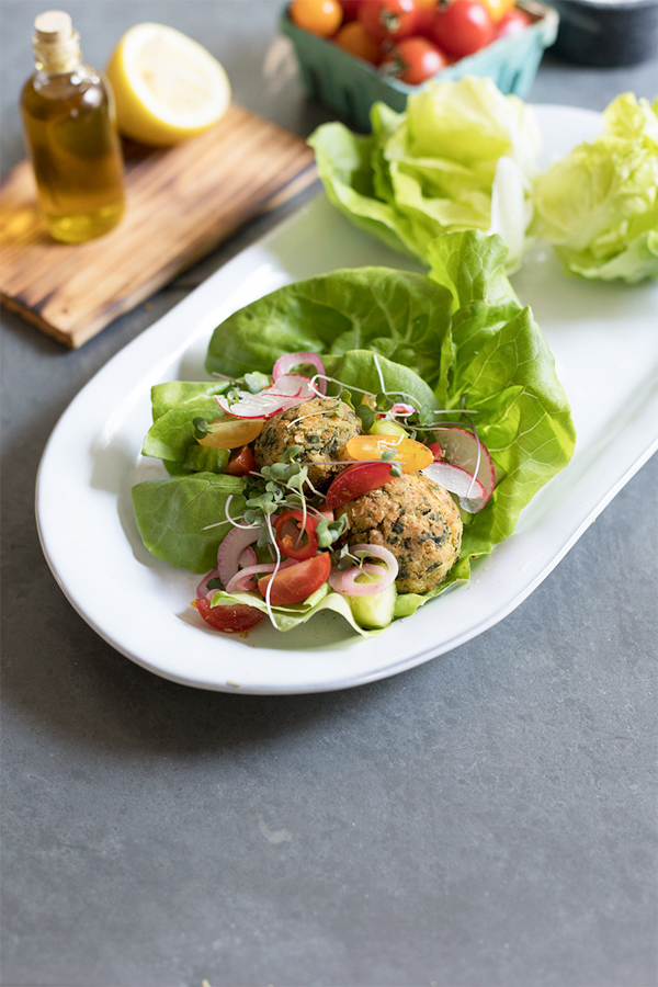 Falafel Lettuce Wraps Recipe