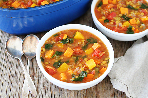 Fall Vegetable Lentil Soup Recipe