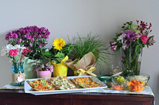 Spring Entertaining with a Flatbread Bar