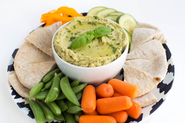 Garden Vegetable Hummus Recipe
