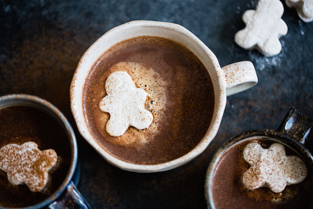 Gingerbread Hot Cocoa And Marshmallow Men The