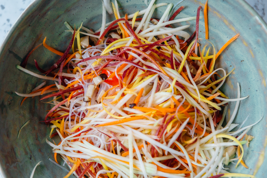 Green Papaya Salad Wraps Recipe