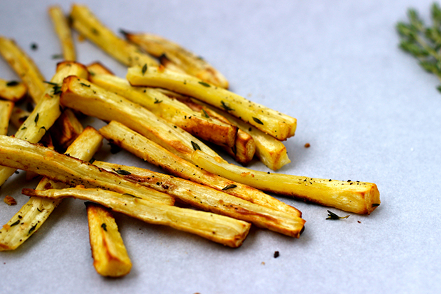 Seasonal Nutrition: Thyme Roasted Parsnip Fries