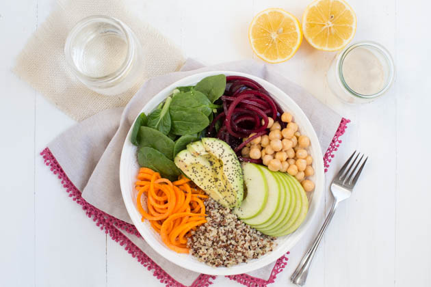 Harvest Buddha Bowl with Lemon Tahini Dressing Recipe