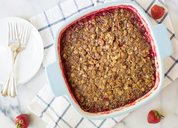 Strawberry Plum Crisp