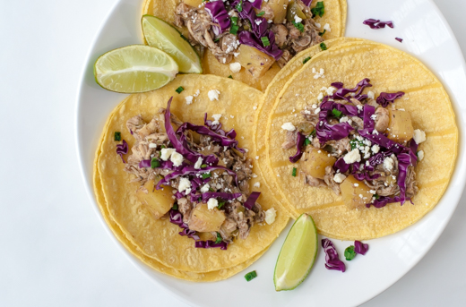 Pineapple Jerk Chicken Tacos