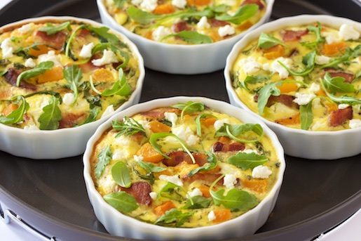 Quiche with Butternut Squash, Bacon and Goat Cheese