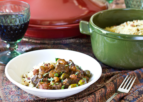 Lamb Tagine with Apricots Raisins and Olives Recipe