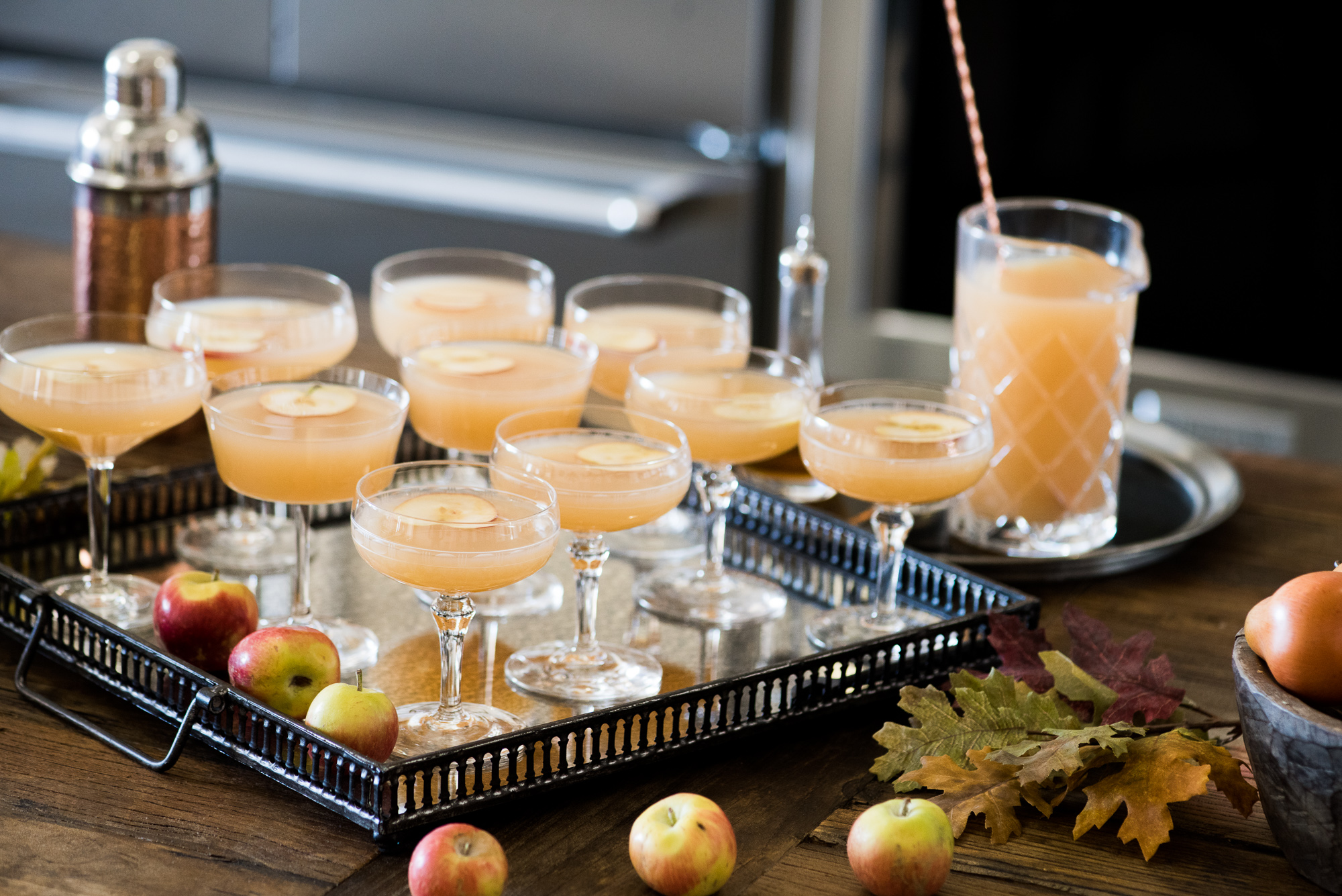Apple Whiskey Sidecar & Fall Entertaining
