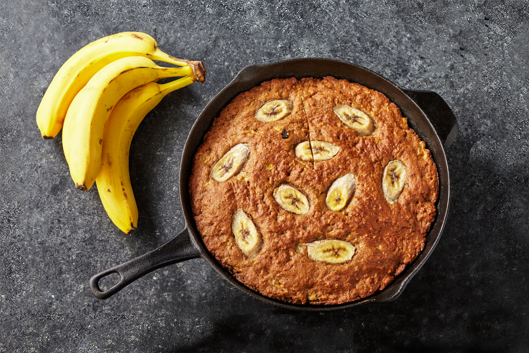 Brown Banana Skillet Bread Recipe