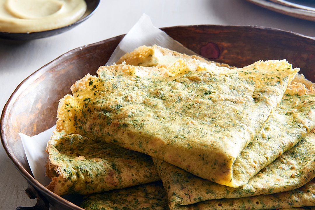 Indian Chickpea Crepes Recipe