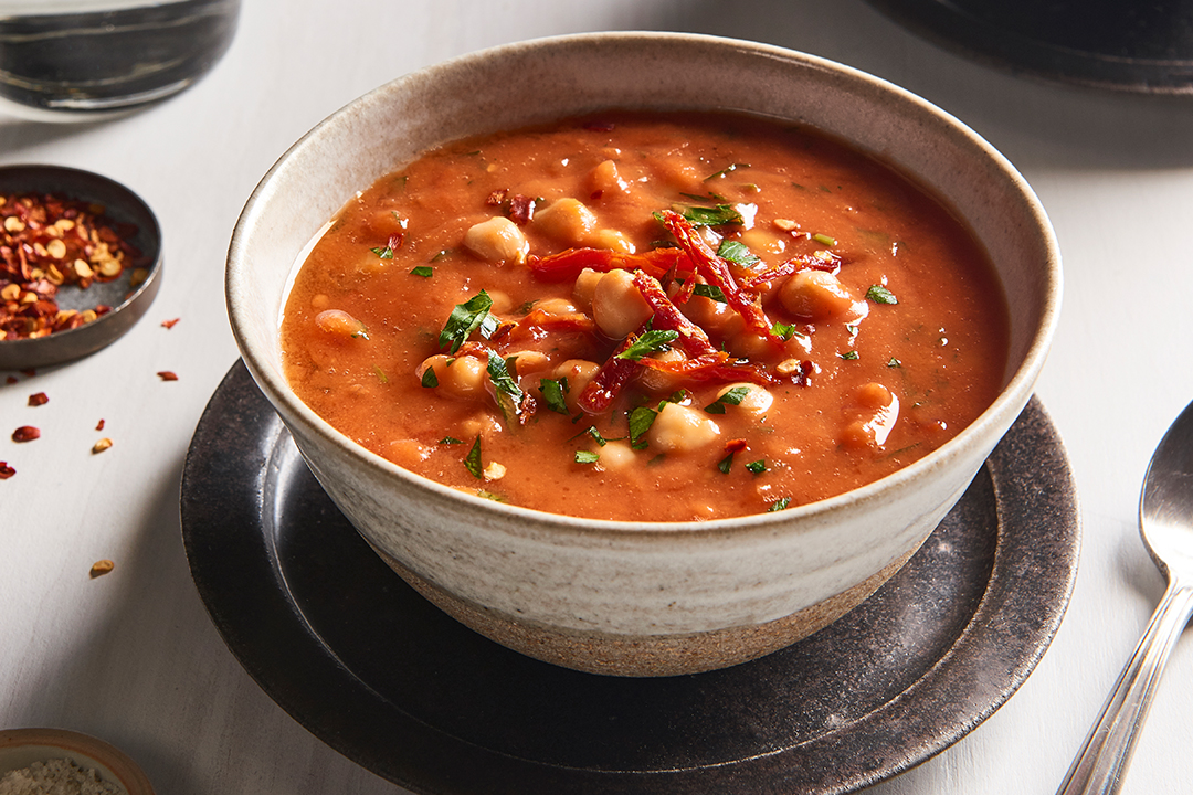 Smoky Tomato Soup with Chickpeas Recipe