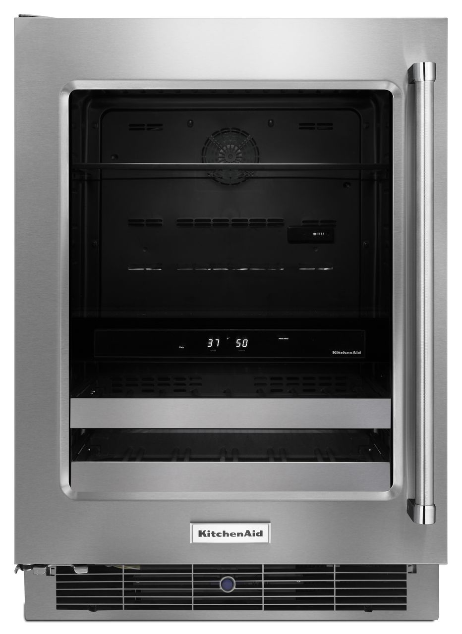 "KitchenAid® 24"" Stainless Steel Beverage Center"