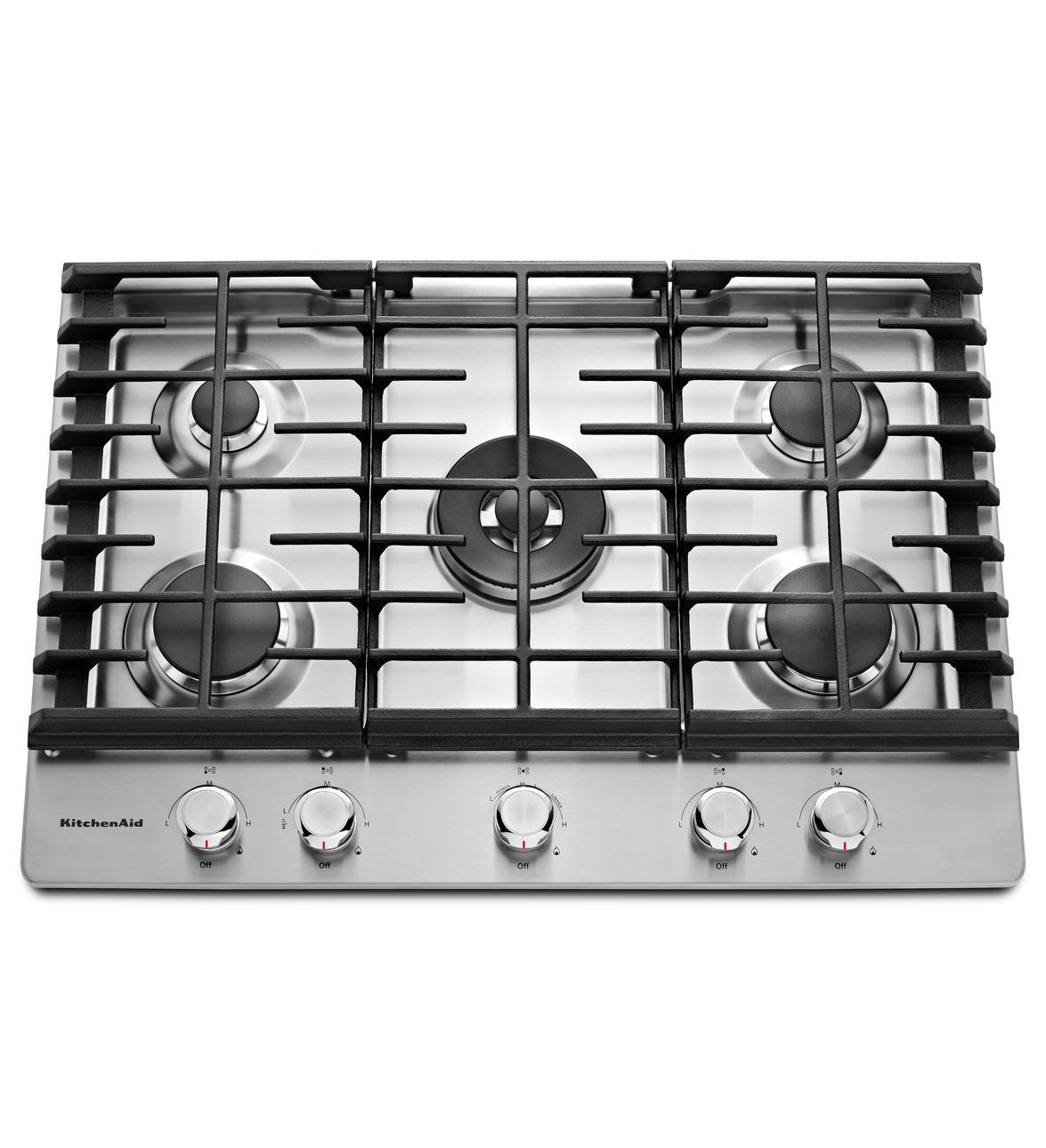 KitchenAid® 30'' 5-Burner Gas Cooktop