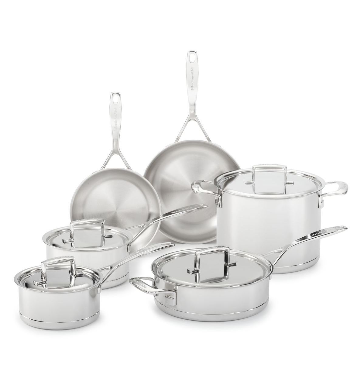 KitchenAid® 7-Ply Stainless Steel with Copper Core 10-Piece Set