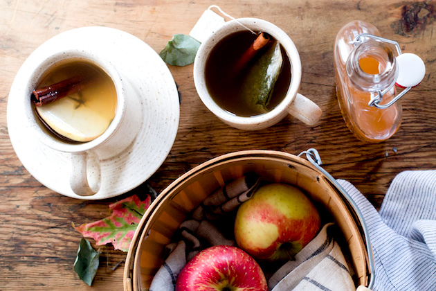Hot Apple Cinnamon Shrub Tea
