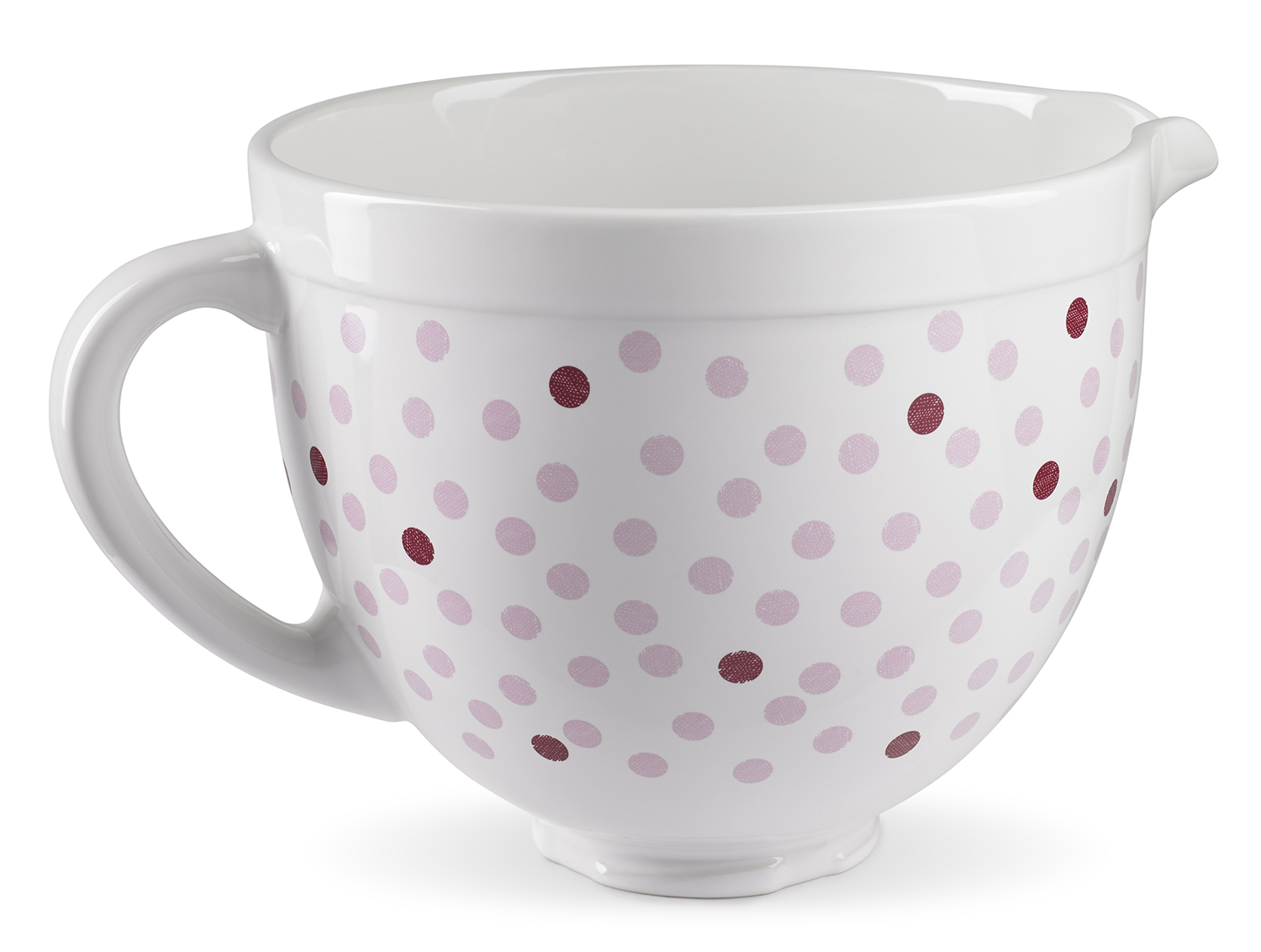 KitchenAid® Pink Polka Dot Ceramic Bowl