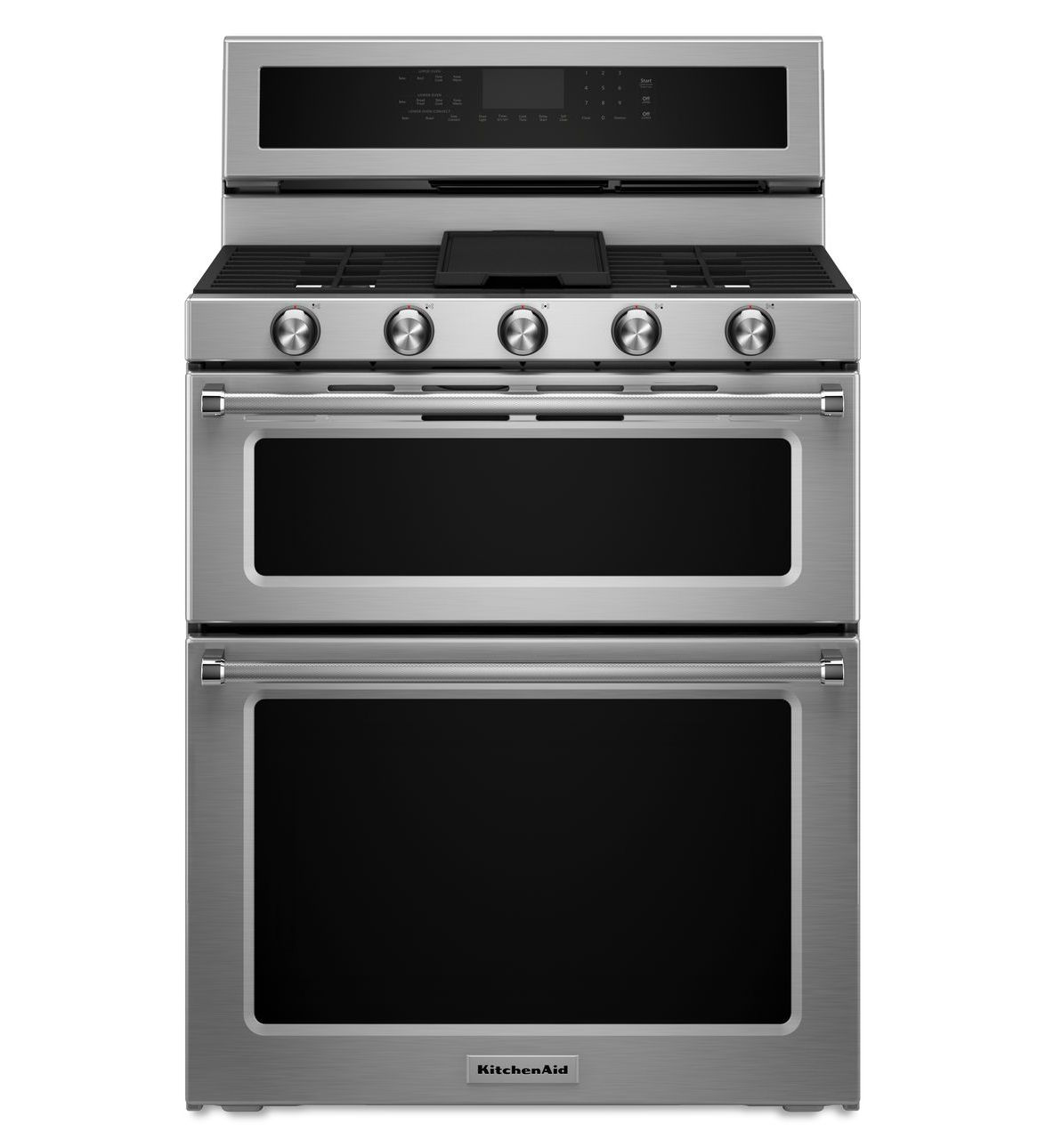 Astonishing Stainless Steel 30 Inch 5 Burner Dual Fuel Double Oven Download Free Architecture Designs Scobabritishbridgeorg