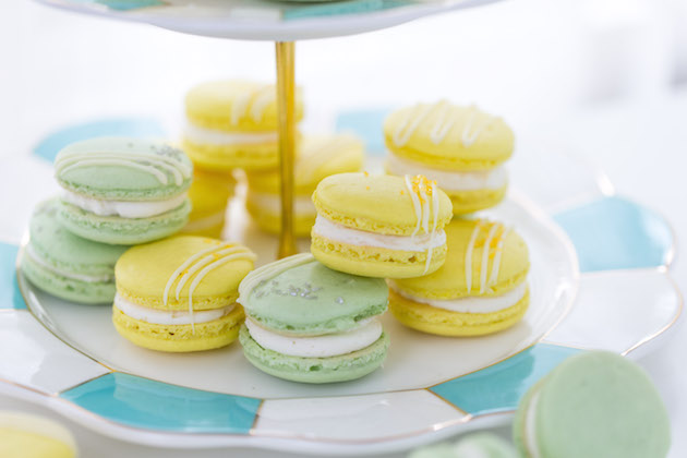 Lemon & Lime Macarons